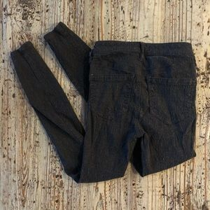 Free People Black Patterned Pants